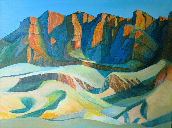 TowardsSunset_FlindersRanges_OilOnCanvas